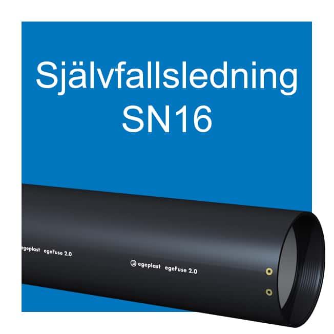 EXTENA Självfallsledning SN16 egeFuse extra hög ringstyvhet