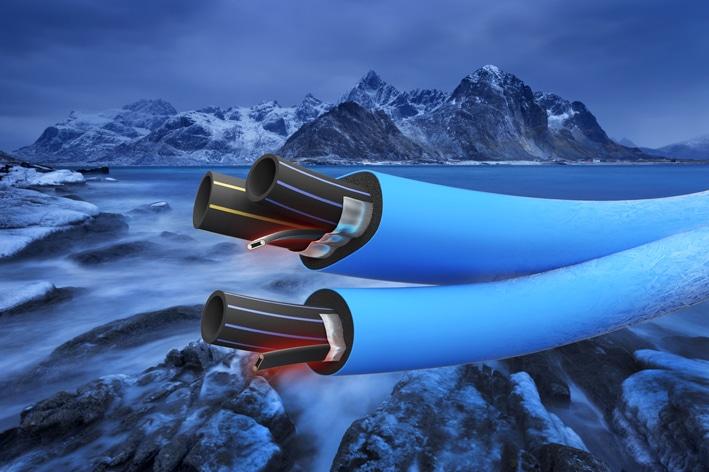 Extena Polarrör isolerat och frysskyddat rör med värmekabel för vatten och avlopp
