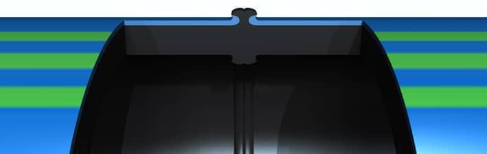 Extena SLM Mantlat med kappa rör Svetsas i svulsten