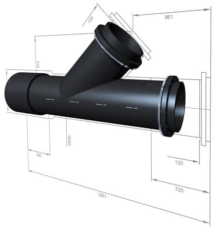 Extena Tryckrör Polyeten PE100 RC Specialtillverkad rördel