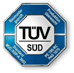 Extena Egeplast Certifierat TÜV