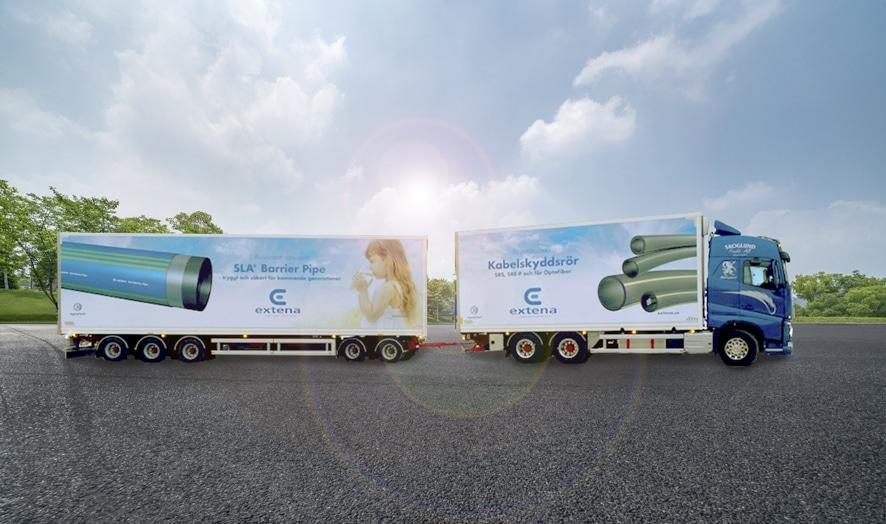 Extena Ny lastbild och släp för ännu bättre distribution